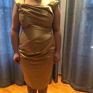 Newport News Metallic Gold Dress. size 14